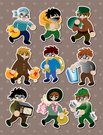 thief stickers  Ilustrace