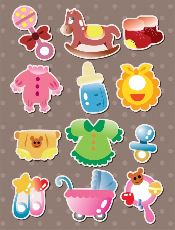 pacifiers: baby stuff stickers