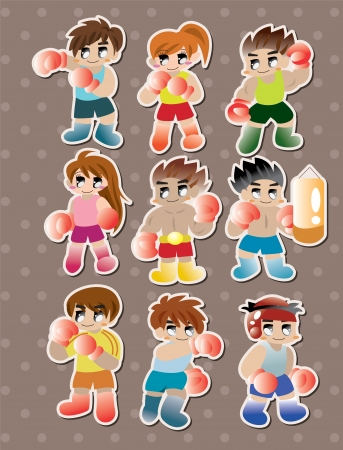 boxer stickers  Vector