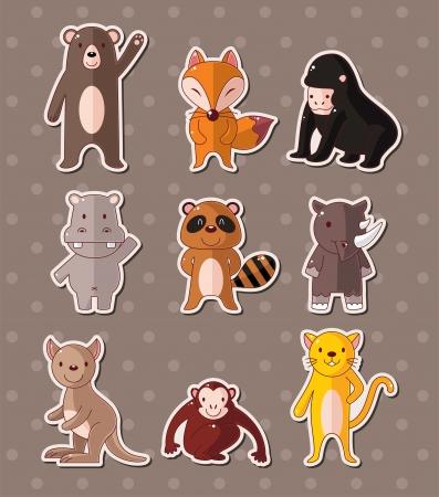 hipopotamo dibujos animados: pegatinas de animales