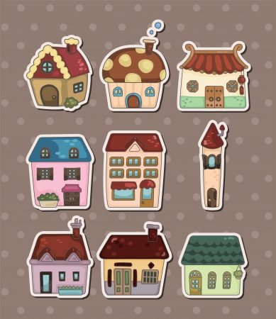 residence: house stickers
