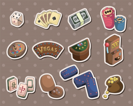 casino stickers  Vector