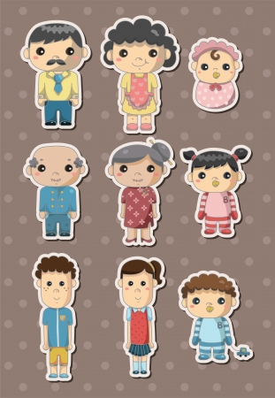 family stickers Stock Vector - 15645878