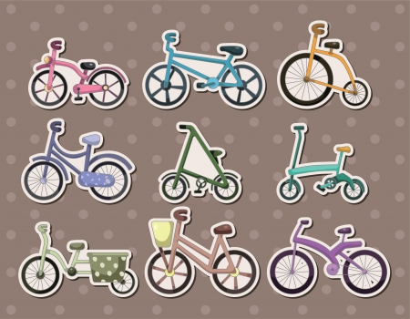 cartoon Bicycle stickers Stock Vector - 15645876