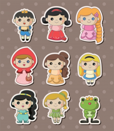 rapunzel: story people stickers Illustration
