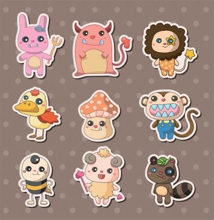 fairycake: monster stickers