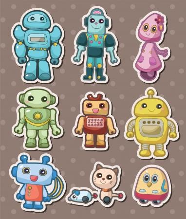 인간형: 만화 로봇 sticers 일러스트