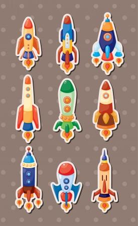 ruimteschip stickers Vector Illustratie
