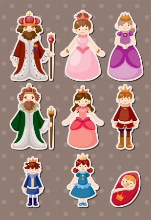 set of Royal people syickers Vector