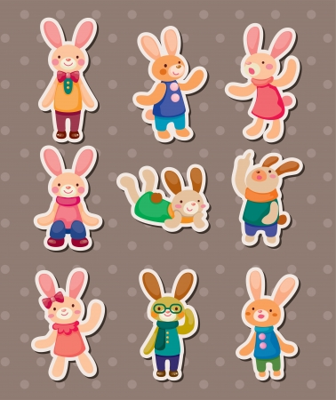 rabbit stickers Vector