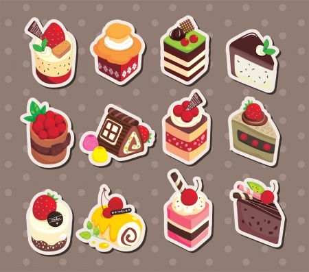 cake stickers Stock Vector - 15771612