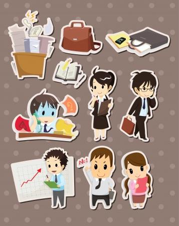 owner money: office worker stickers