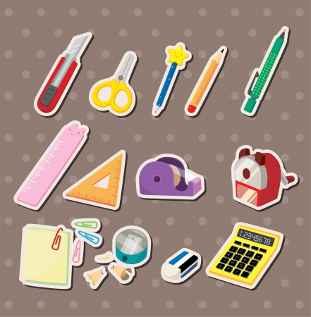 stationery items: stationery stickers  Illustration