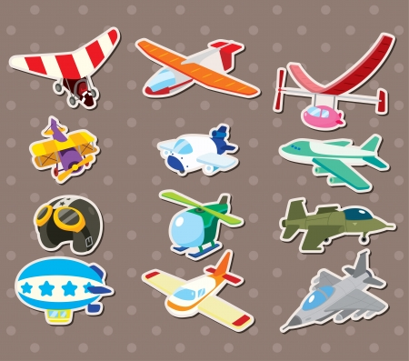 cilp: cartoon airplane stickers