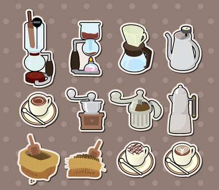 coffee stickers Stock Vector - 15771631