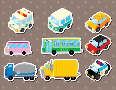 brandweer cartoon: winkelwagen stickers
