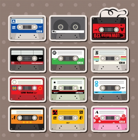 music Tapes stickers  Vector