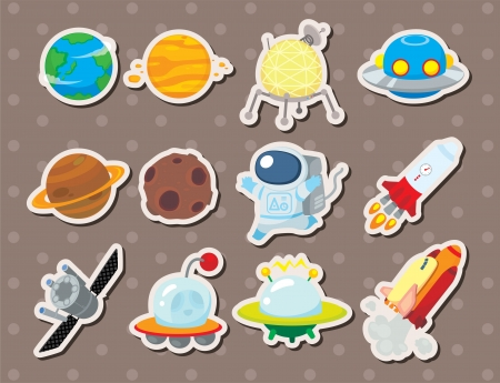space station: space stickers