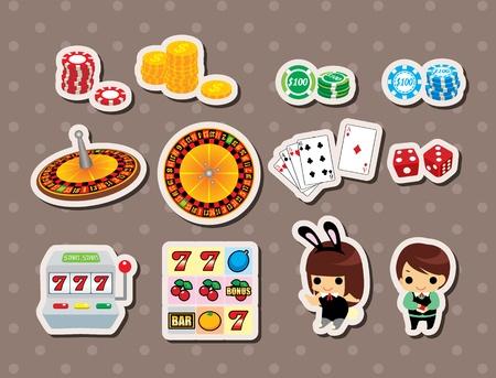 slot machine: casino stickers