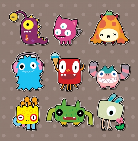 fairycake: monster stickers