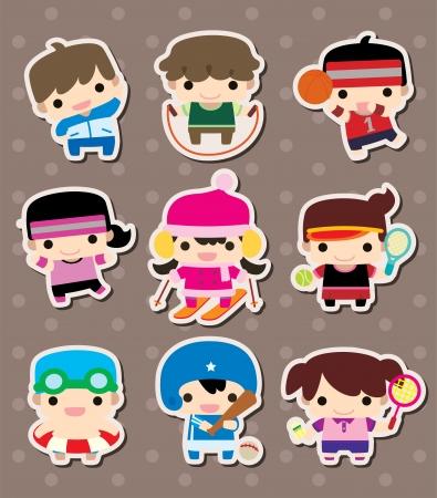 skipping: sport stickers