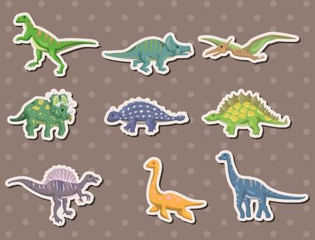 triceratops: dinosaur stickers  Illustration