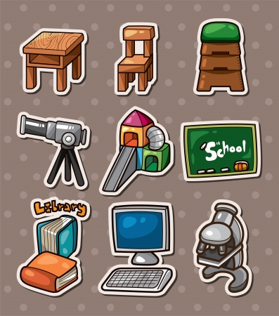 school table: Education element stickers