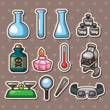 hazardous substances: Science stickers Illustration