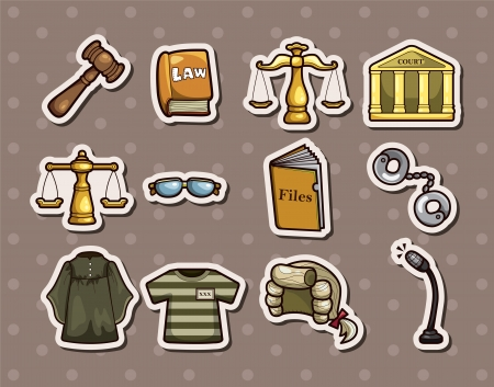 law stickers Stock Vector - 15934271