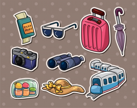 travel stickers Vector