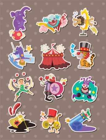 entertainment tent: circus stickers Illustration