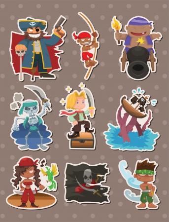 barrels set: pirate stickers