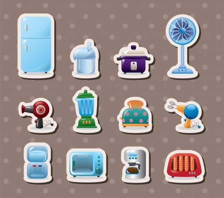 microwave ovens: home appliances stickers