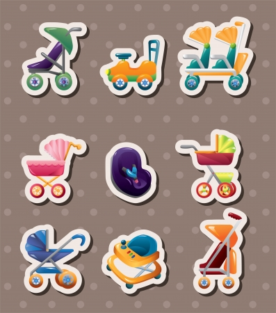 set of baby carriage stickers Stock Vector - 15934263