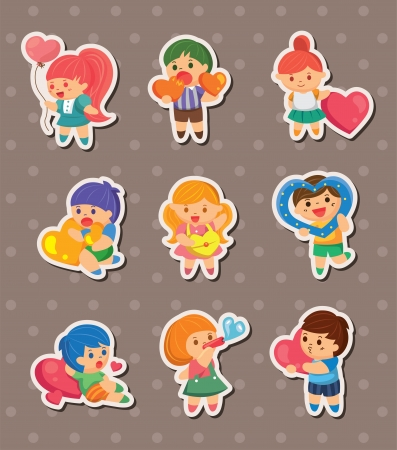 lovers embracing: kid love stickers