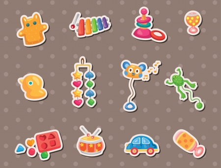 baby toy stickers Vector