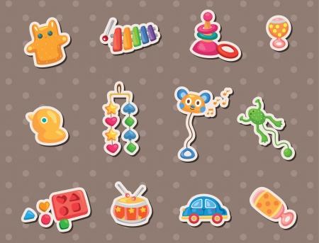 maraca: baby toy stickers