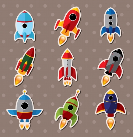 space shuttle: spaceship stickers  Illustration