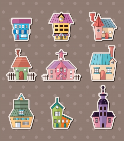 house stickers Stock Vector - 16059881