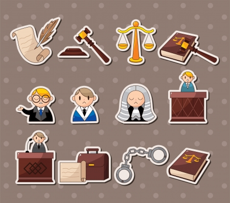 criminal justice: law stickers  Illustration