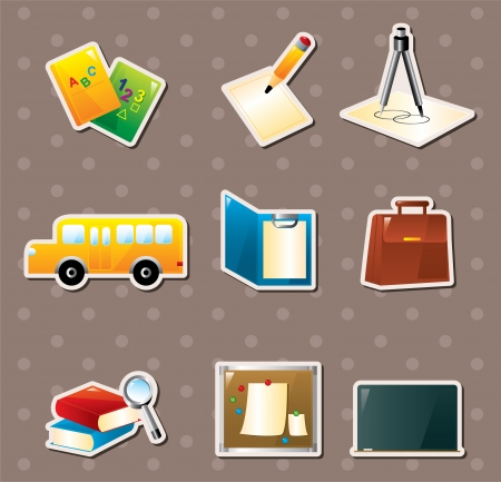 school stickers Stock Vector - 16059878
