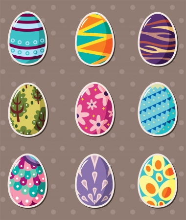cartoon Easter egg stickers