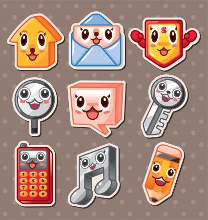web icon stickers Stock Vector - 16059876