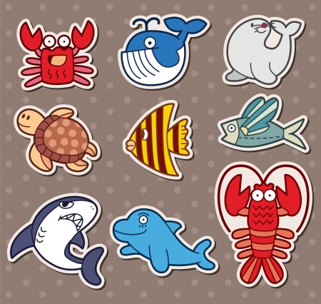 whale underwater: fish stickers