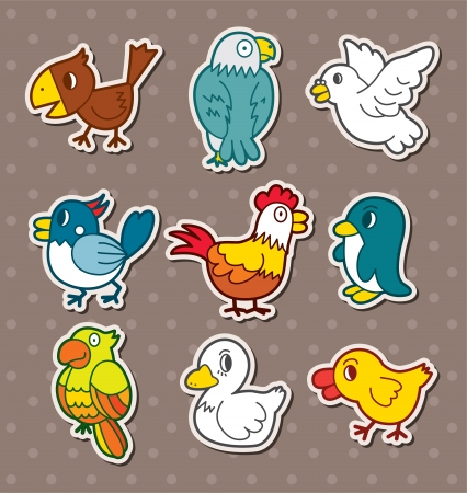 bird stickers Stock Vector - 16059883