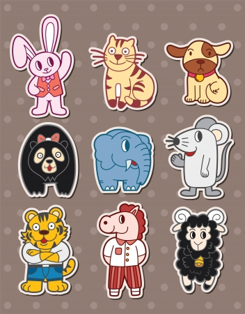 gracious: animal stickers