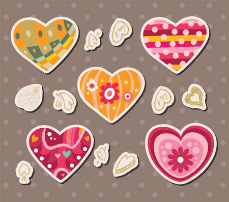 love stickers Stock Vector - 16150952