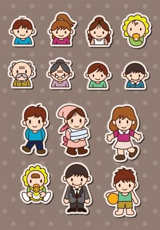 cute boy: family stickers