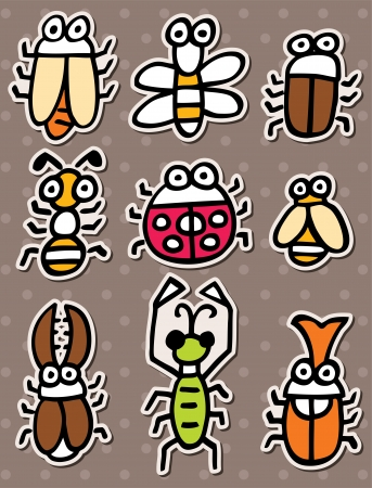 doodle bug stickers Stock Vector - 16150954