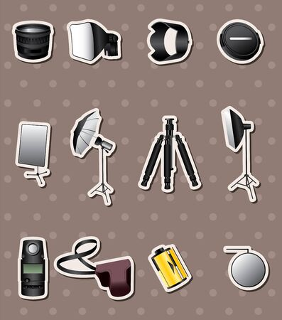 Photographic equipment stickers Vector